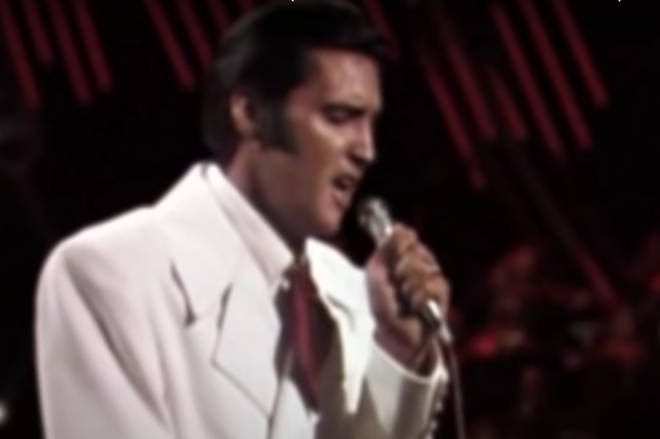 For the close ups of Elvis' face, footage was taken from an HD video of Elvis singing the same song at his famous 1968 Comeback Special.