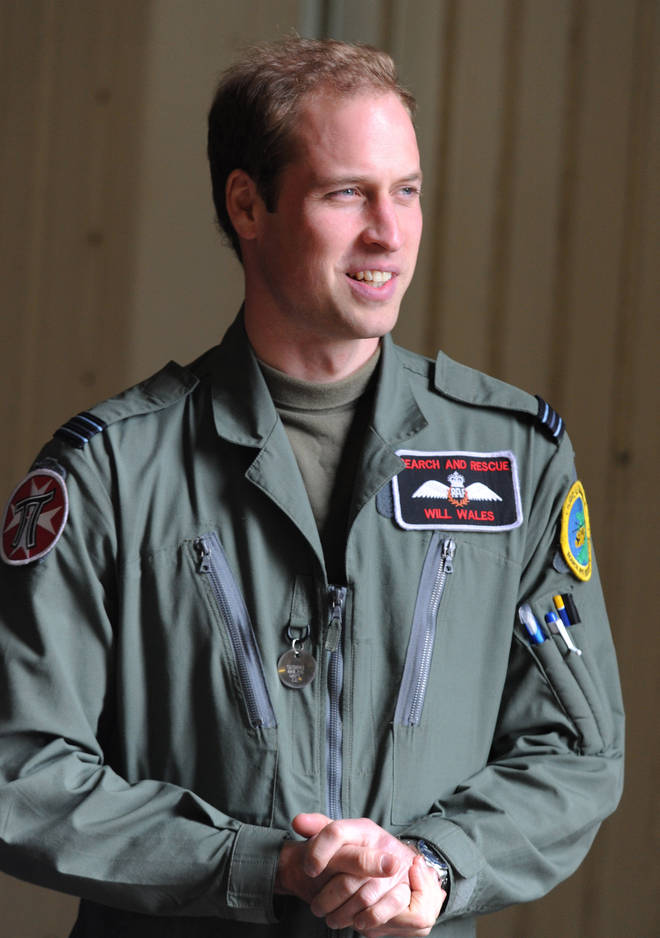 Prince William as a helicopter pilot in 2011