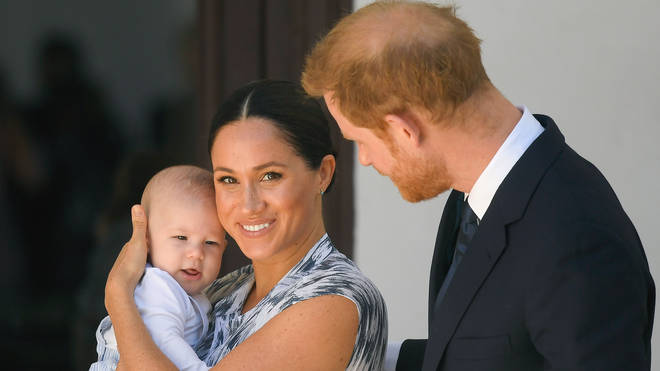 Meghan and Harry with baby Archie