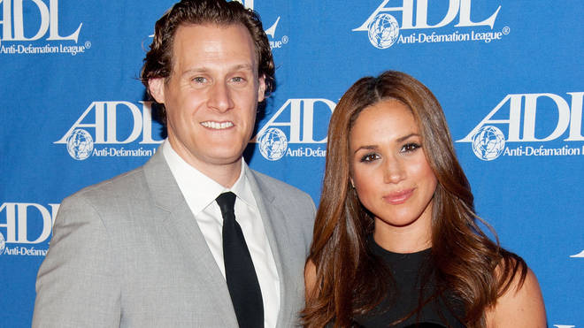 Meghan with first husband Trevor Engelson in 2011