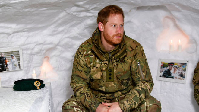Prince Harry at the military base of Bardufoss