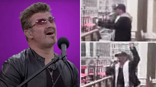 When a George Michael impersonator fooled hundreds of fans in Leicester Square singing 'I'm Your Man'