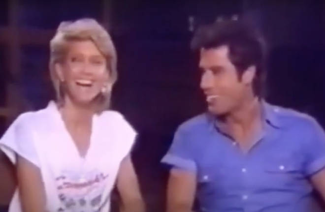 A video of Olivia Newton-John and John Travolta making eachother laugh hysterically has resurfaced online.