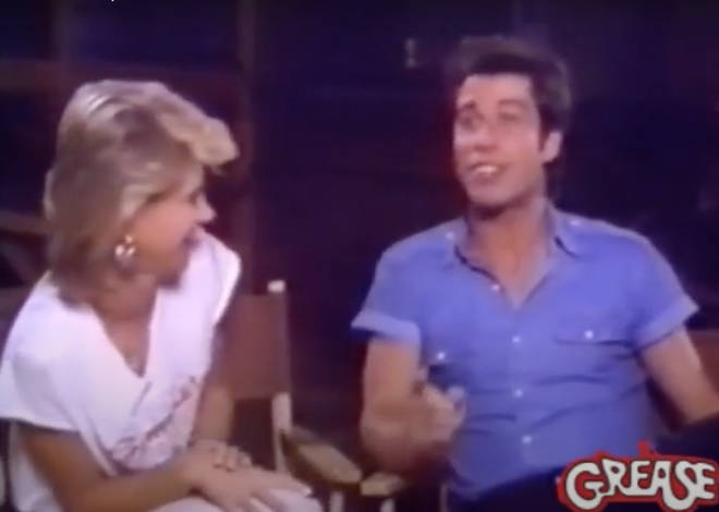 """Well then you&squot;re really stupid,"" John Travolta laughs at Olivia as the two then try to continue the interview."