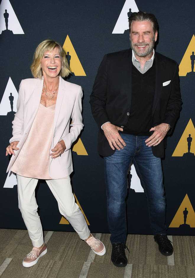 Olivia Newton-John and John Travolta have never dated and instead been incredibly close friends for over 40 years. Pictured in Beverly Hills in 2018.