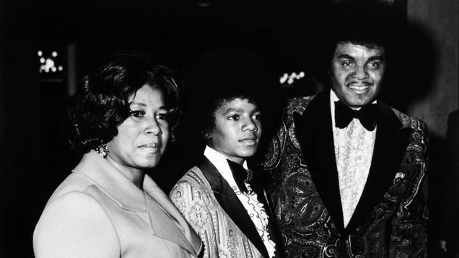 Michael Jackson and his parents in 1973