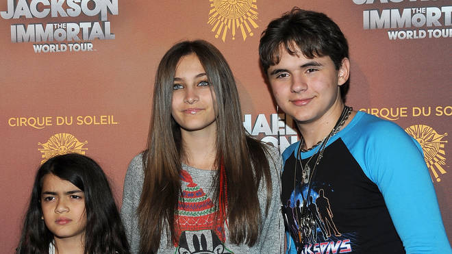 Michael Jackson's children Prince Michael 'Blanket', Paris and Prince Jackson in 2012