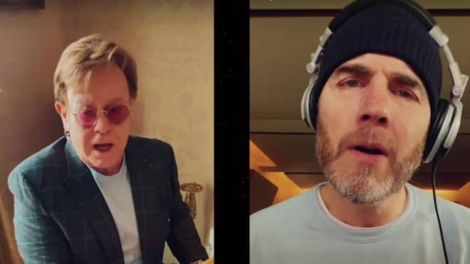 Elton John and Gary Barlow have released a duet of 'Your Song' on YouTube.