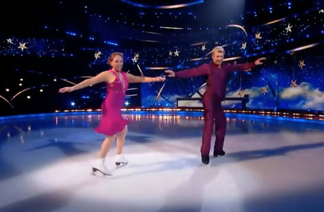Torvill, 63, and Dean, 62, took to the ice on Sunday night's Dancing On Ice final and gave a jaw-dropping performance to Frank Sinatra's 'Fly Me To The Moon'.