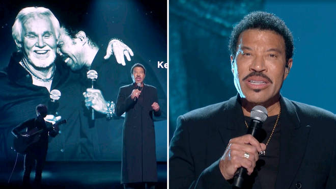 Lionel Richie pays tribute to late friend Kenny Rogers in emotional performance of 'Lady'