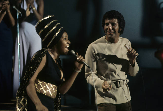 Aretha Franklin was just one of the many stars who performed on TV show 'This Is Tom Jones' (pictured in 1970).