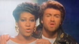George Michael and Aretha Franklin released duet 'I knew You Were Waiting' in 1987.