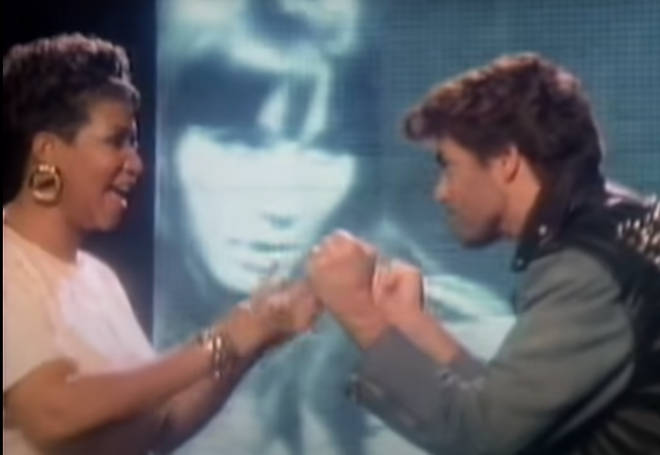 """""""We had a super time. He was calling most of the shots: how he wanted this, how he wanted that,"""" said Aretha about the music video shoot. """"He was very friendly and personable, easy to talk to."""""""