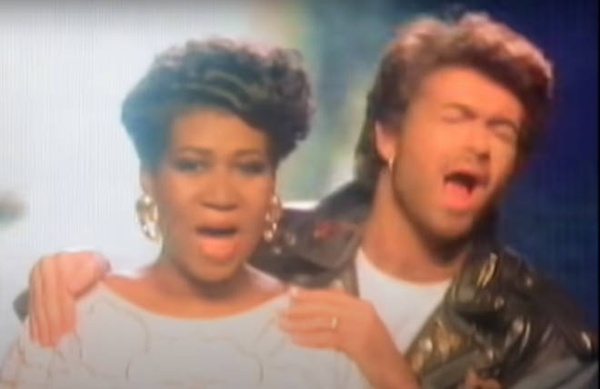 """""""The first time I heard George was with Wham! and I liked it then,"""" Aretha Franklin told Entertainment Weekly in 2017."""