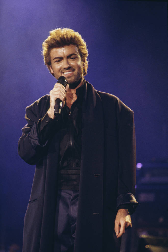 The duet was released just months before George Michael performed live on stage at an Aids awareness charity concert at Wembley Arena in London in April 1987 (pictured).