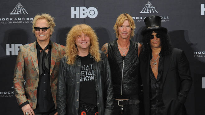 Matt Sorum pictured with the rest of Guns N' Roses