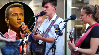 These two young buskers singing 'Unchained Melody' will give you goosebumps