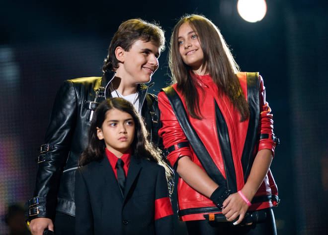 """Prince Michael (left) has fond memories of growing up with his siblings, Paris (right) and Prince &squot;Blanket&squot; Jackson (bottom) in a house """"filled with music""""."""