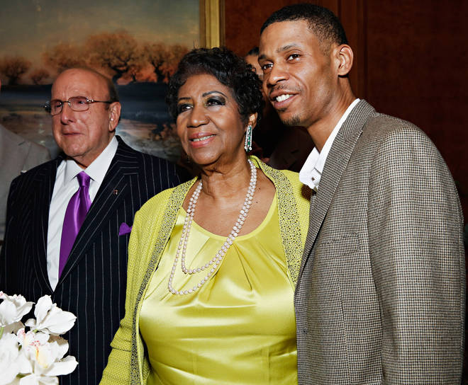 "Aretha Franklin's son Kecalf (Pictured right with his mother and Clive Davis) says the matter was about ""Common, decent respect for our family,"""