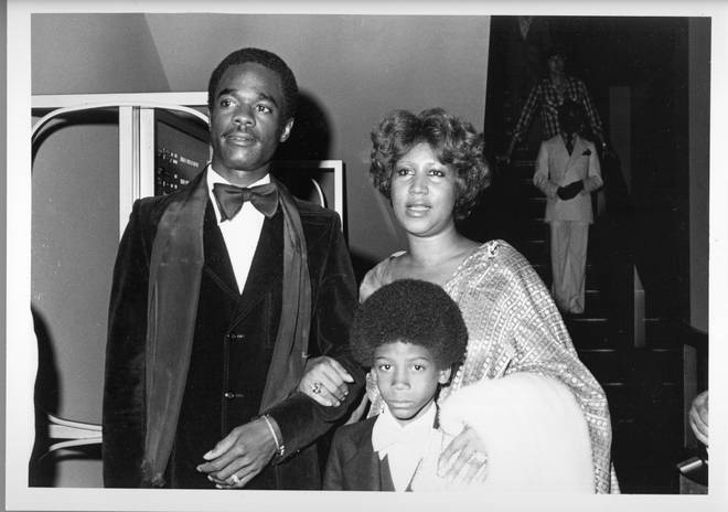 """As the immediate family, we feel that it's important to be involved with any biopic of [Aretha&squot;s] life"" the family said in a statement. Pictured, Kecalf Franklin pictured with his mother Aretha in 1979."