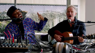 To celebrate his latest album Duets, Sting appeared on NPR's Tiny Desk (Home) Concert series and performed a three-song set from an apartment studio in New York City.