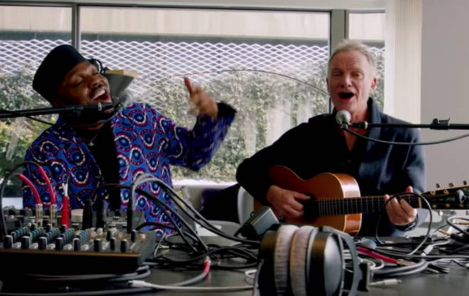 The UK singer was joined by Beninese artist Shirazee who recently recorded a cover of Sting's 'Englishman in New York' as 'African In New York'.