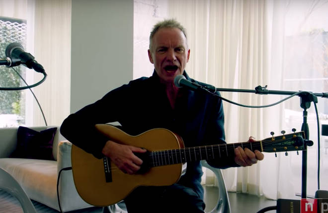 Sting continued the 12 minute set with renditions of his hits 'If I Ever Lose My Faith in You' and concluded with 'Sister Moon'.