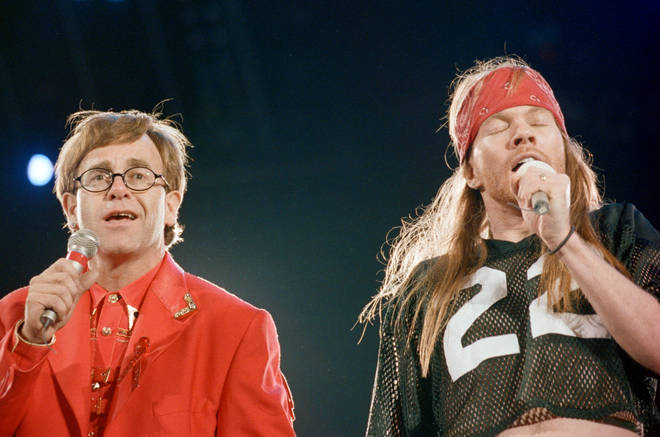 Elton John, Axl Rose and Queen gave a stunning performance of 'Bohemian Rhapsody' at The Freddie Mercury Tribute Concert in 1992