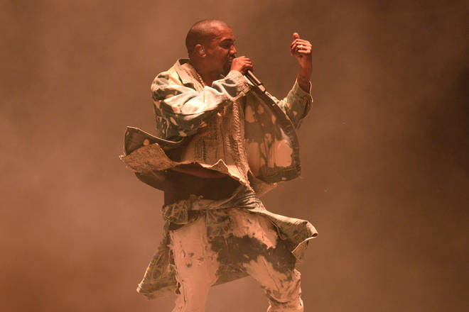 Kanye West give his own take 'Bohemian Rhapsody' during at his famous Glastonbury headline performance in 2015 (pictured).