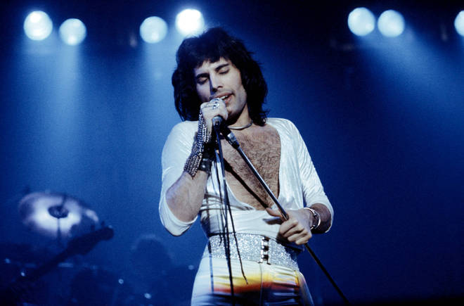'Bohemian Rhapsody' has become one of the most famous song of all time. Pictured, Queen's Freddie Mercury performing on stage.