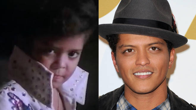 Bruno Mars was interviewed by Jonathan Ross in 1989 as the world's youngest Elvis Presley impersonator.