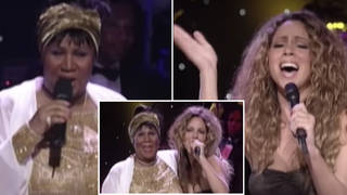 Aretha Franklin was appearing on VH1 Divas Live when she announced that she was inviting guest Mariah Carey on stage with 'no rehearsal'.