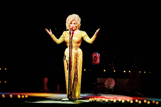 "The video comes after Dolly Parton recently opened up about a clash she had with Elvis Presley which left her ""crying all night"". Pictured, on stage at The Dominion Theatre in 1983."