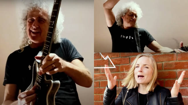 Brian May and Kerry Ellis have released a new track 'Panic Attack 2021'. Pictured, the pair's  new music video for the song.