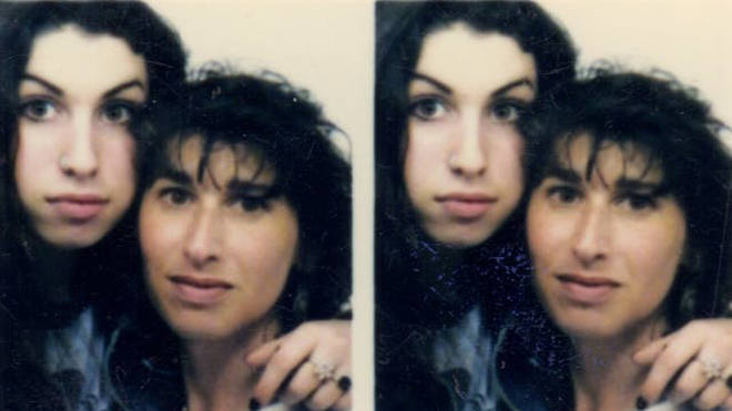 A young Amy Winehouse pictured with her mother