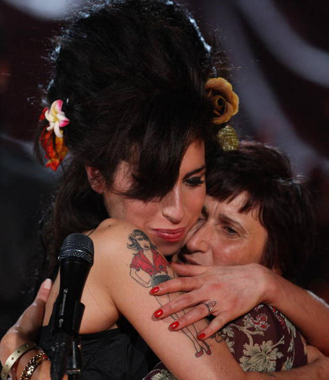 Amy Winehouse and her mother
