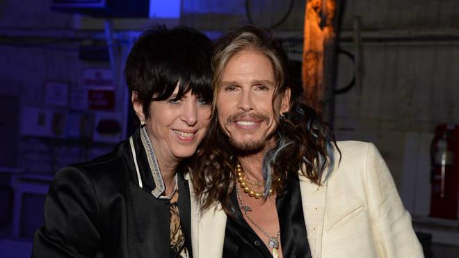 Diane Warren with Aerosmith's Steven Tyler in 2016