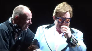 The brave moment Elton John tried to carry on performing after being diagnosed with 'walking pneumonia' was caught on camera in February 2020.
