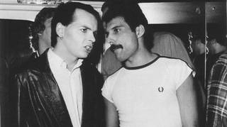 Gary Numan and Freddie Mercury