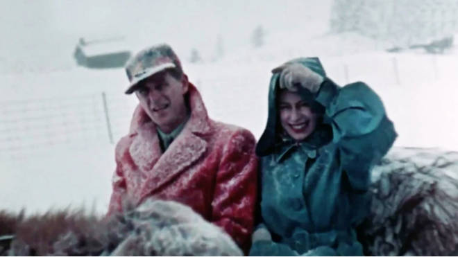 The documentary The Queen Unseen will also include the first colour footage of the monarch tour in Canada in 1951, when she and Philip took a traditional sleigh ride (pictured).