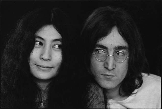 Fans of Lennon travel from all over the world to pay homage to the star and the site is often overflowing with flowers and candles. Pictured: Lennon and Ono in 1968