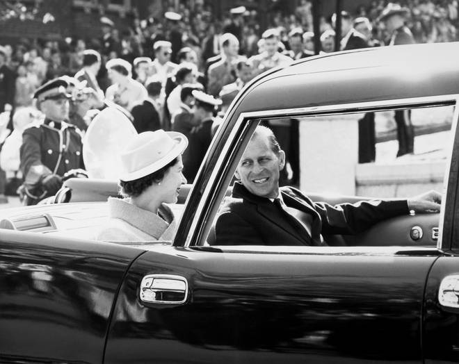 Queen Elizabeth II and Prince Philip during their visit to the Province of Quebec, Canada, June 1959.