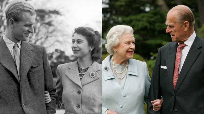The 73-year love story of Prince Philip and Her Majesty The Queen is one that will be remembered forever. Pictured left, in 1947 and right, in 2007.