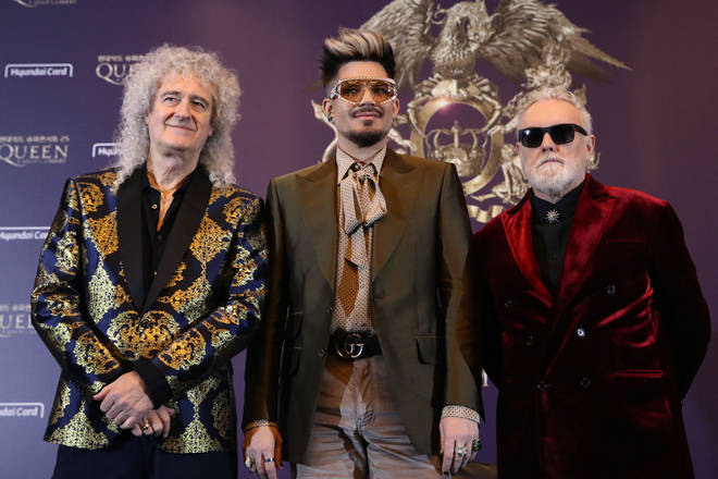Queen have been playing with new frontman Adam Lambert for over a decade but haven't recorded anything new; their last original record as a band was The Cosmos Rocks with Paul Rogers in 2008. Pictured (L to R) Brian May, Adam Lambert and Roger Taylor.