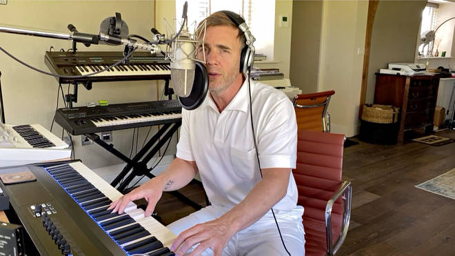 Gary Barlow posted a video on his Instagram page giving fans a peek of his home studio. (Pictured in 2020)