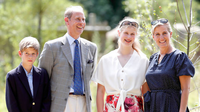 Prince Edward with his family