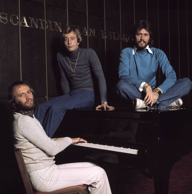 The Bee Gees wrote many songs for other artists. Pictured (L to R) Maurice, Robin and Barry Gibb.