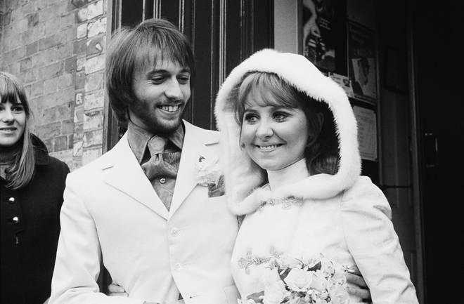 Maurice Gibb was married to singer Lulu from 1969 to 1975. Pictured on their wedding day in St James's Church after their wedding in Buckinghamshire on February 18, 1969.