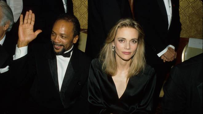 Quincy Jones with third wife Peggy Lipton