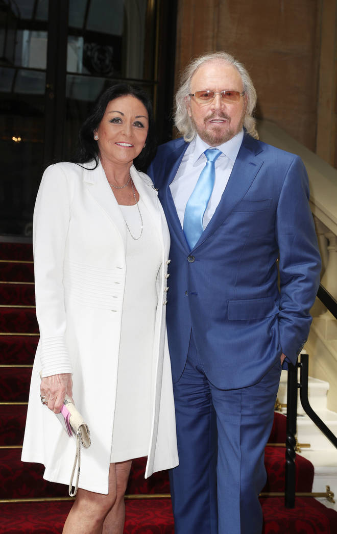 Barry Gibb married former Miss Edinburgh, Linda Gray in 1970 and they are still together over fifty years later. Linda and Barry pictured ahead of Gibb being knighted at Buckingham Palace on June 26, 2018